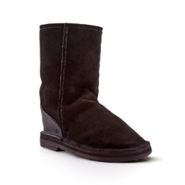 SUEDE BLACK sheep skin boots