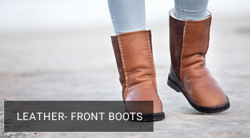 leather front boots